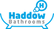 Haddow Bathrooms logo with blue and grey text