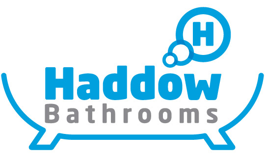 Haddow Bathrooms coloured logo on a white background.