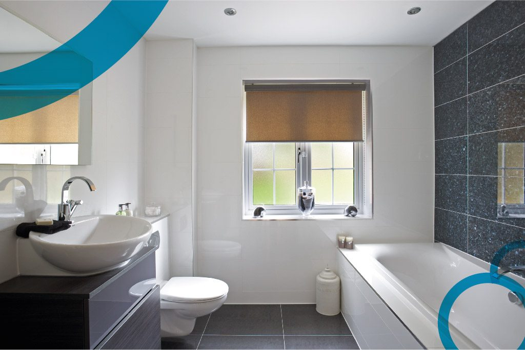 Haddow Bathrooms. Bathroom design showing a bath, sink and WC
