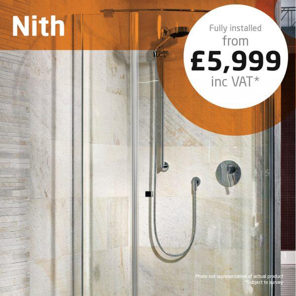 Haddow Bathrooms Nith shower enclosure