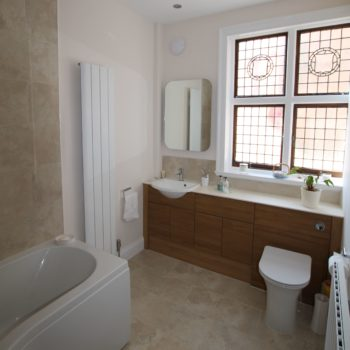 Listed Building Bathroom Refurbishment Sink & Toilet Unit After